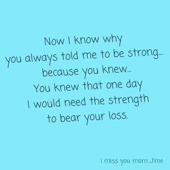I don't want to be strong but I promise that I'll make you proud of me.