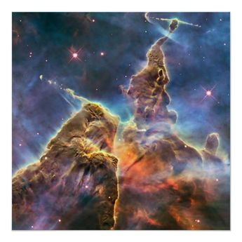 Carina Nebula By The Hubble Space Telescope Poster - Custom Posters...