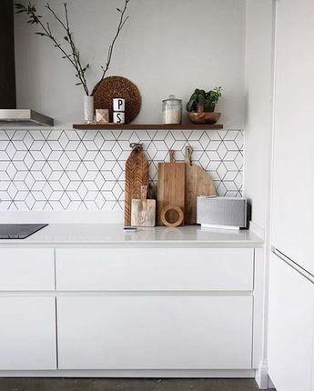 55+ Stunning Geometric Backsplash Tile Kitchen Ideas