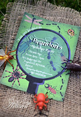 Boy Bug Party Invitations