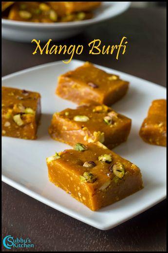 Mango Besan Burfi Recipe