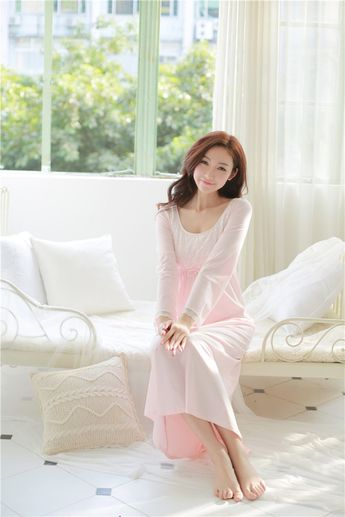 76b54722b8 Cotton Nightdress Ladies Sweet Casual Sleep Dress Comforta