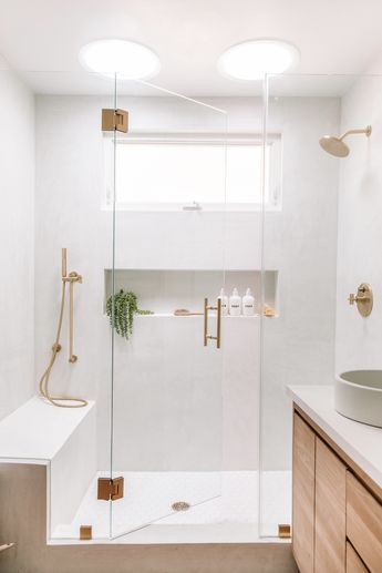 Three Things :: Striped Ceilings, Mauve Marble & A Beautiful Bathroom Makeover - coco kelley