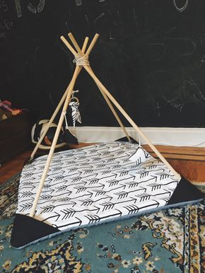 Teepee Baby Play Mat by StorylineThreads on Etsy