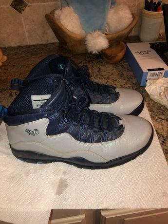 buy online 886fe fa8cd Nike Air Jordan Retro 10 X RIO Brazil Wolf Grey Photo Blue OVO 310805-019