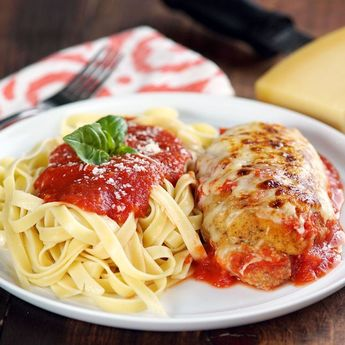 Asparagus and Provolone Stuffed Chicken Parm ~ Recipe