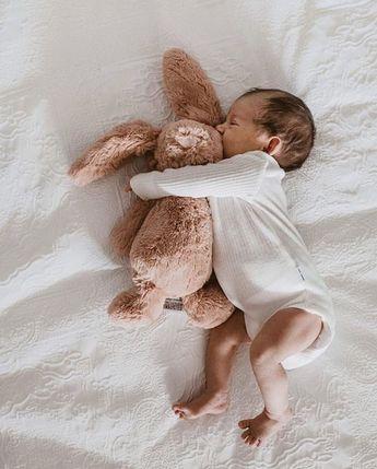 bunny snugs and cute baby feet