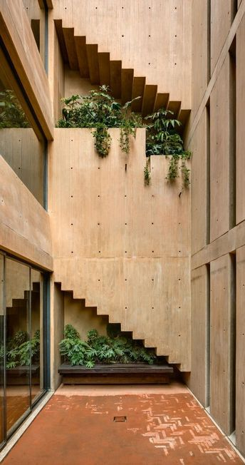 Architect Hector Barroso's concrete housing is built around three patios