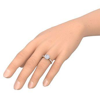 Miore Damen Ring Weissgold Diamant 54 17 2 My030r4