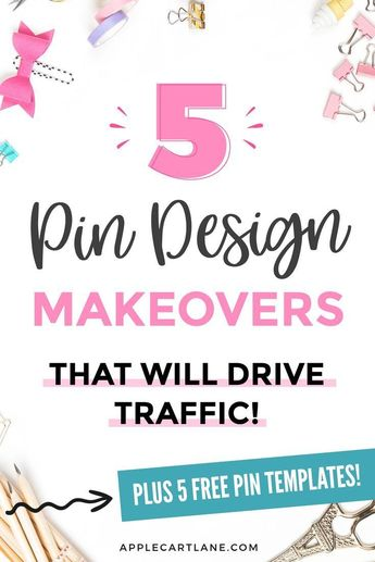 Pinterest Pin Makeovers + Pin Design Tips Unveiled