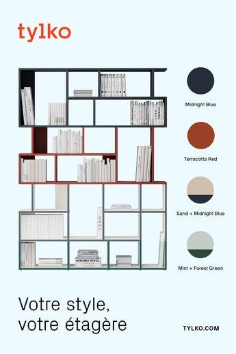 Votre achat de meuble, en mode 2.0.  Des étagères Tylko au design audacieux. Conçues pour s'adapter à tous les espaces.  Créez la vôtre : faites votre choix parmi d'innombrables options de personnalisation et une toute nouvelle gamme de couleurs tendances, puis visualisez votre design en live chez vous grâce à la réalité augmentée de notre App.