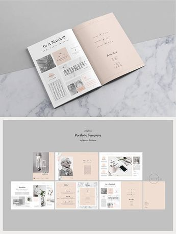 Portfolio & Magazine PSD Template — Lookbook Template for Photographer + Creatives — Fashion Resume Template — Beauty Catalog Layout • Noémi