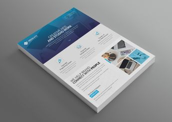 Olympus Stylish Professional Corporate Flyer Template - Graphic Templates