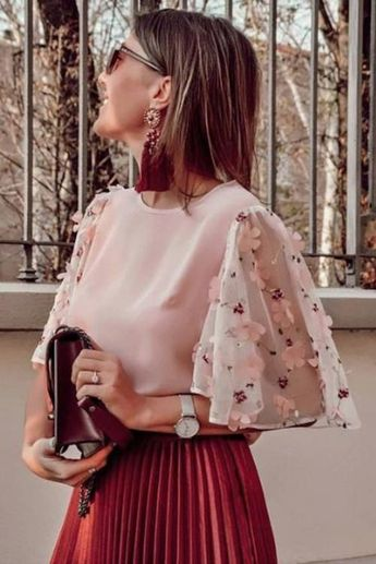 Sweet Cutie Floral Pink Top