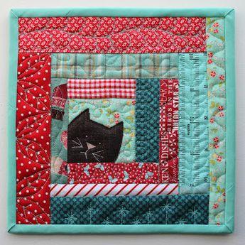 PatchworkPottery: Kitty Potholders