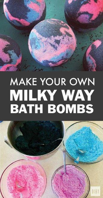 DIY Milky Way Galaxy Bath Bomb Recipe and Tutorial