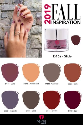 Fall Mani Inspiration! Get your nails ready for fall with these gorgeous fall shades. Beautiful Fall nails are just a dip away!