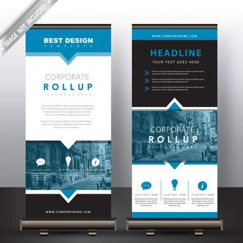 roll up banners in blue detailed. Download thousands of free vectors on Freepik,...
