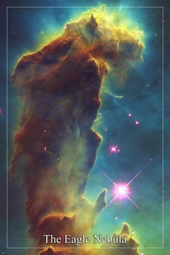 THE EAGLE NEBULA Hubble Space Telescope image POSTER 24X36 cluster of stars