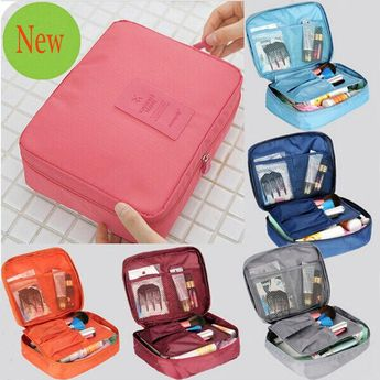 Cosmetic Makeup Bag Expandable Travel Organizer Wash Toiletry Storage Pouch