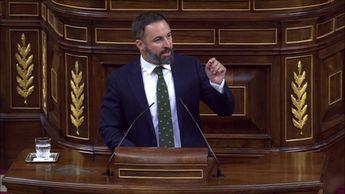 Santiago Abascal se viene arriba en el debate sobre el 'Open Arms'