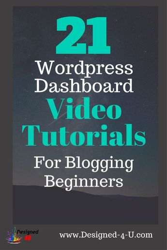 Wordpress For Beginners Dashboard Video Tutorials