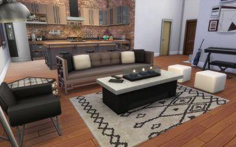 Living room - Industrial Loft | 19 Culpepper House, Spice Market | San Myshuno.