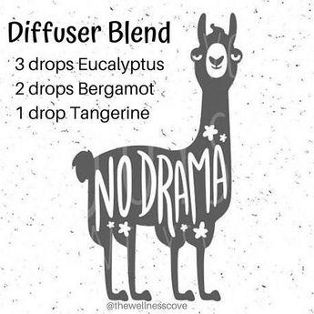 No Drama Llama 🦙 Diffuser Blend 3 drops Eucalyptus 2 drops Bergamot 1 drop Tangerine 🦙 Eucalyptus helps to clear the mind and promotes…
