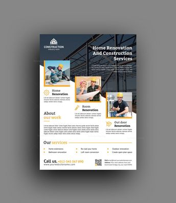 Best Construction Flyer Design Template - Graphic Templates