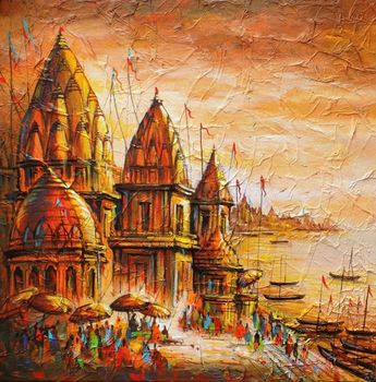 India known for its #ancient #heritage- Ghats of Varanasi #IndianArt #BanarasGhats #Monuments #Temple #India #HistoricalPlace