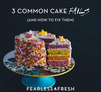 Cake Fails: Three Common Cake Baking Fails
