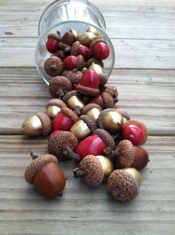 25 glands décoratifs décoratifs de couleur or entier