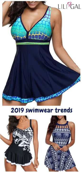 Great recommended printed swimsuits for women, cute and comfy, #freeshipping worldwide and easy returns, #coupons $6 off over $60, $9 off over $90, code: liligal2019. Click and find the 2019 swimsuit trends in Liligal. #liligal #swimwear #swimsuit
