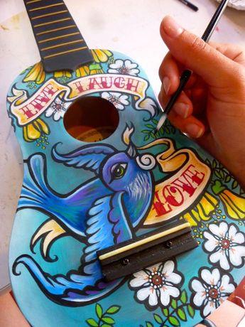 Custom Ukulele - Live, Laugh, Love by Erika Pearce, via Behance