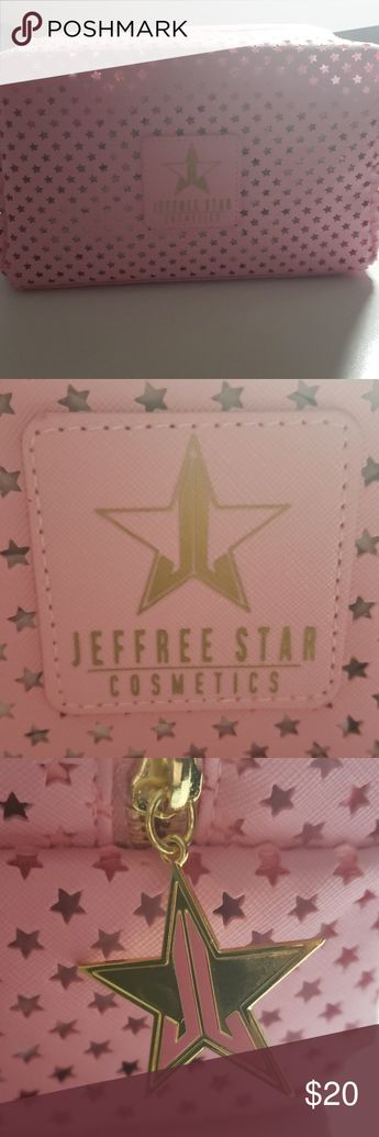 Jeffree star authentic pink HUGE makeup bag Vegan leather  Size: 9.5 x 5.25 x 4.5  Brand new never used. Massive, could fit so many things to travel with other than makeup. ❗❗❗❗❗FINAL PRICE❗❗❗❗❗ Jeffree Star Makeup Brushes & Tools