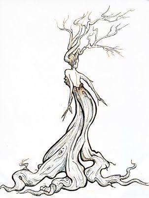 Britta's doodle blog: Desert Tree Spirit