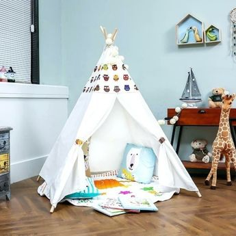 Build teepee tent yourself and make a private children's play area