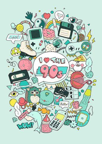 I love the 90s illustration