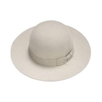 b4028cb2c75 Ivory felt hat with Embroid Band   Women Classic hat   felt cloche hat    vintage