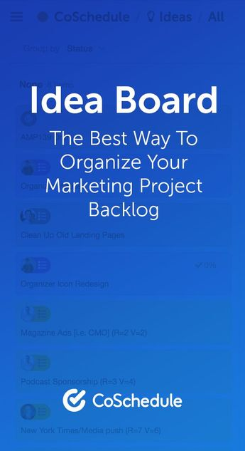 Idea Board - The Best Way To Organize Your Marketing Project Backlog