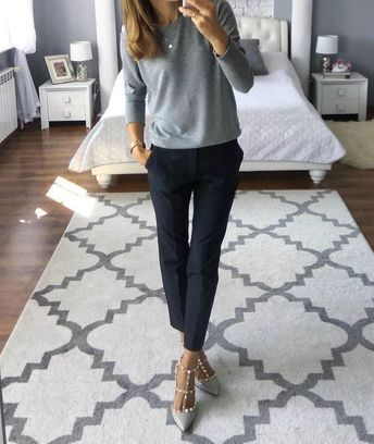 Love this look...maybe with flats though...those heels will not work on the playground!