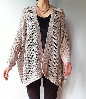 75946e0a5037e4 Ravelry  Angelina - easy trendy cardigan (knit) pattern by