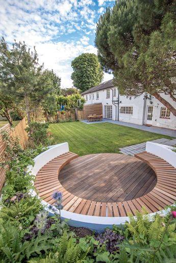 Coin repos circulaire dans un petit jardin. Dulwich – Kate Eyre Garden Design