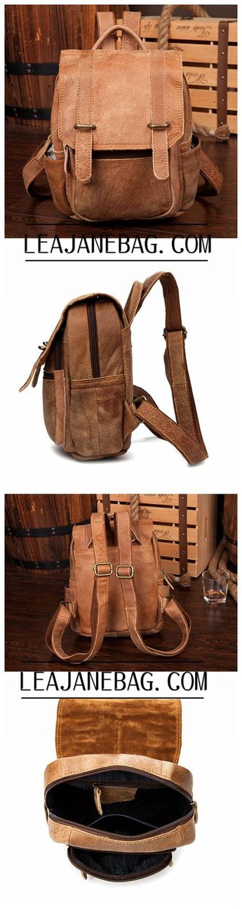Leather Backpack, School Backpack, Leather Travel Backpack MS015 34283a7c5d