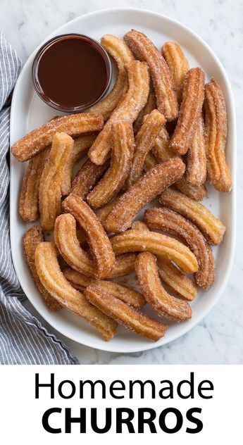 Churros - BEST churros I've ever had! via Jaclyn {Cooking Classy