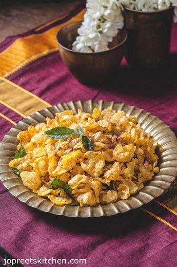 Corn Flakes Mixture | Chiwda