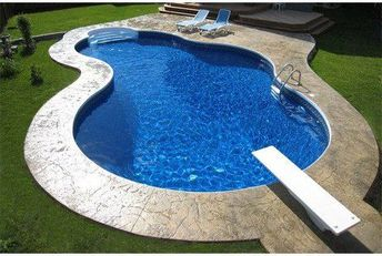 Equator 12' x 24' Hump Kidney Shape In Ground Pool Kit with Step   Steel Wall   61273