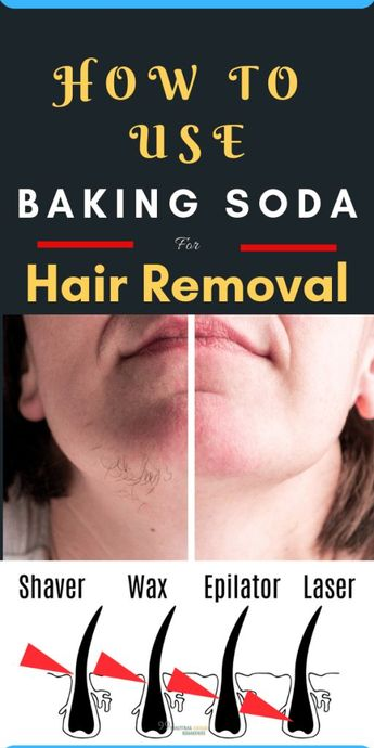 How To Use Baking Soda For Hair Removal -  #baking #hair #removal #Soda