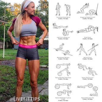 Sexy ABS Workout Routine Join us @livefittips for more  The Best Workouts For Women  - - #strongereveryday #strengthandconditioning…
