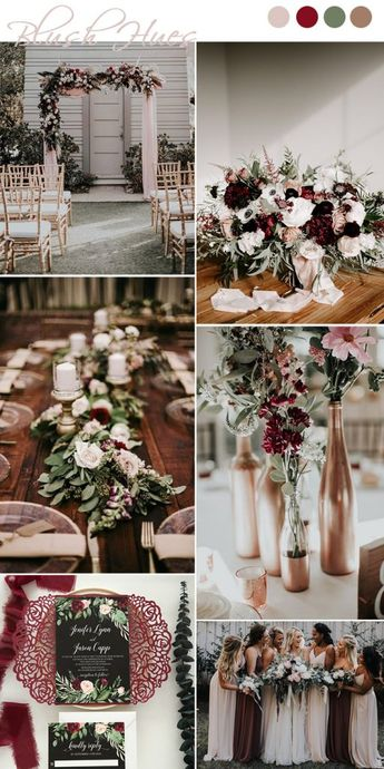 7 Chic and Romantic Blush Pink Modern Wedding Color Ideas